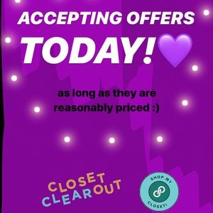 Other - Offer welcome!
